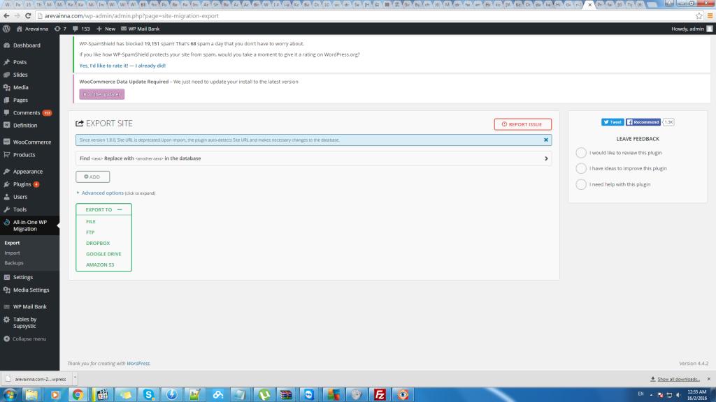 woocommerce run updater