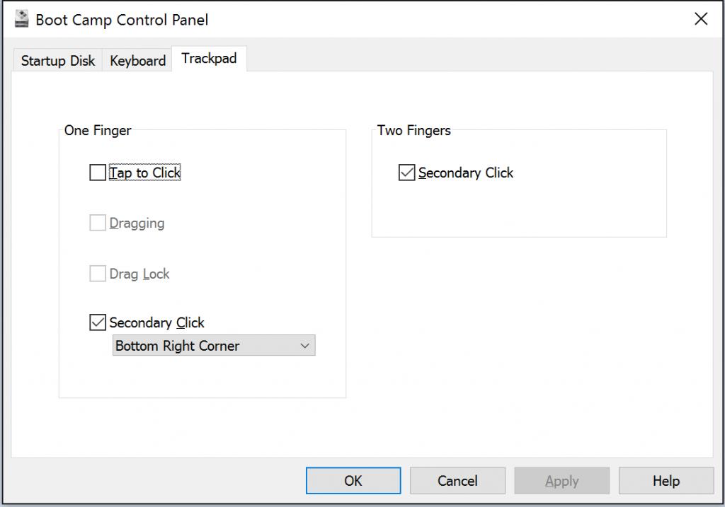 windowsbootcamptrackpadoptions